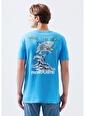 Mavi Erkek  Save The Sea Baskılı Tişört 066245-31558 Mavi